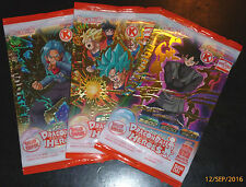 DRAGON BALL Z DBZ HEROES 3 PROMO PACK CARD PRISM CARTE GDPC-01,02,03 SET SEALED