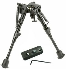 "Rifle Bipod 6"" to 9"" Harris Style Adjustable Spring Legs w/KeyMod Rail Adapter #"