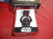 Star Wars Kylo Black and Red Band with Stop watch New in box Youth