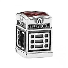 New Authentic Pandora Charm 791202EN49  London Calling Enamel Box Included