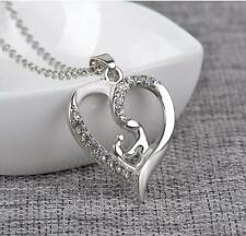 New Mother's Day Gift Mom Child Heart Pendant Chain Family Love Necklace Jewelry