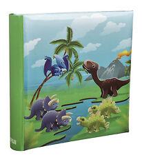 Kids Cute Dinosaurs Scene Slip In Memo  Photo Album' 6x4' For 200 Photos-AL-9155