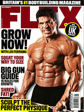 British JOE WEIDER's FLEX 01/2016 GET HUGE WITH LOU FERRIGNO Bodybuilding @NEW@
