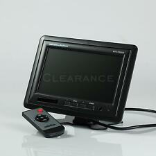 "LED 7"" TFT PANEL DUAL IR TRANS STAND 2 VIDEO INPUT 1 AUDIO CAR MONITOR"