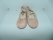 Youth Girl 11 Spotlights Pink Leather Slip On Maryjanes Ballet Slippers Shoes