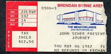 1982 Journey concert ticket stub NJ Steve Perry Don't Stop Believin Escape