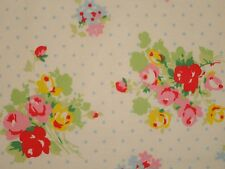 Shabby Pastel Flowers White Blue Red Polka Dot Floral Retro Cath Kidston Chic