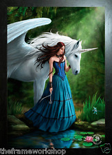 ANNE STOKES BLACK FRAMED ENCHANTED POOL(UNICORN) - 3D MOVING PICTURE 300 x 400mm