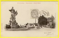 cpa 16 - ANGOULÊME (Charente) STATUE CARNOT REMPART DESAIX TRAMWAY Dos 1900