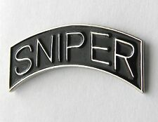 SNIPER SPECIAL FORCES US ARMY SILVER COLORED LAPEL PIN BADGE 1.25 INCHES