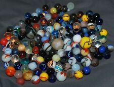Lot of 135 old vintage antique marbles from an old collection