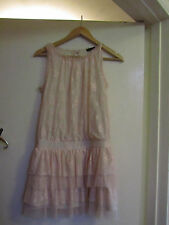 Very Short Light Pink Lace Miss Selfridge Tiered / Rara Dress in Size 8 - NWOT