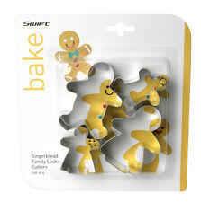 Swift Set of 4 Traditional Gingerbread Man Family Cookie Cutters Bake Biscuit