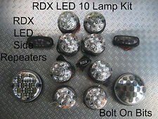 RDX LED CLEAR 10 Lamp/lights FREE Side Repeaters Defender 1998-2016 Td5/Tdci D