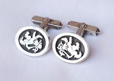 EDINBURGH STERLING RAMPANT LION CUFFLINKS 1985 MALCOLM GRAY of ORTAK ORKNEY~RARE