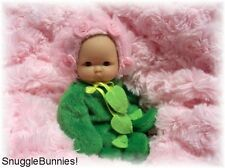"""LIL BABY PINK ROSEBUD OUTFIT FITS 5-6"""" BERENGUER REBORN OOAK BABY DOLL !"""