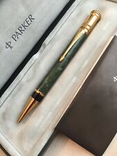 1996 PARKER DUOFOLD LAQUE JADE GREEN GT BALLPOINT PEN-UK-BOXED-SUPERB