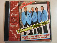 THE DIAMONDS STANDING ROOM ONLY 21 TRK CD LIVE IN CONCERT AUTOGRAPHED BY ALL 4