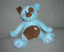 NATIONAL ENTERTAINMENT NETWORK  plush BLUE PUPPY DOG    SIZE: SITS 10 INCHES