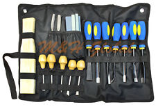 18 Pc Wood Carving Chisel Set Sculpture Woodworking Chisel Sharpening Tool