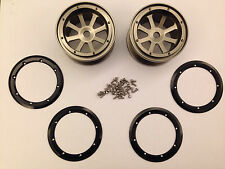 Fumi Alloy 2.2 8-spoke Bead Lock Wheel (2) for Axial Wraith - 20030gu (GUN)