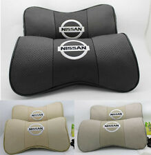 2pcs Car Auto Seat cowhide Protect Neck Rest Belt Headrest Pads for fit NEW pair