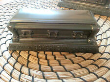 1 Boyertown Famous Bronze Antique Advertising Sample Casket/Coffin Paperweight