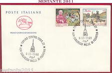 ITALIA FDC CAVALLINO CONGRESSO NAZIONALE PEDIATRIA MONTESSORI 1988 TORINO Z378
