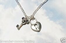 "KEY TO MY HEART DISNEY PENDANT/NECKLACE with silver plated 18"" CHAIN"