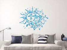 Sun And Moon Wall Decal Crescent Bohemian Vinyl Sticker Boho Bedroom Decor X2