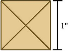 Colored Bevels - 1x1 Bevels-Box of 30 - Brown