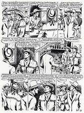 ANDRE GOSSELIN PLANCHE ORIGINALE RED CANYON ARTIMA 1956 PAGE 3 SIGNEE INITIALES