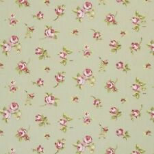 "Clarke and Clarke Rosebud Sage Fabric 137cm/54"" wide"