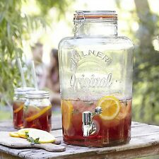 Large Kilner Clip Top Storage Drink Wine Beverage Dispenser Jar With Tap 5L New