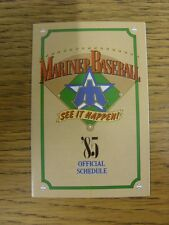 1985 Fixture Card: Baseball - Seattle Mariners (fold out style). Any faults with