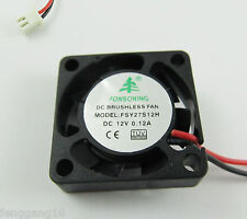Brushless DC Cooling Fan 7 Blade DC 12V 25mm x25mmx07mm 2507 2 Pin Wire 0.12A