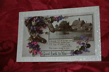 Cartolina Postale Inglese - Viole del Pensiero - 1936 Good Luck to You