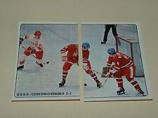 N°25 & 26 CCCP-CSSR 1978 PANINI HOCKEY 79 ICE GLACE 1979 CHAMPIONNAT DU MONDE