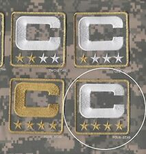 NFL SALUTE TO SERVICE CAMOUFLAGE CAPTAINS PATCH FOUR-4-STAR ACU DIGITAL white C
