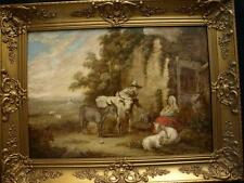 Large 17/18th Century Flemish Old Master Landscape Antique Oil Painting