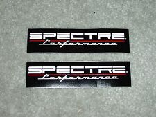 Lot of TWO Spectre Performance Air Filter Sticker Decal Custom Hot Rod Race Car