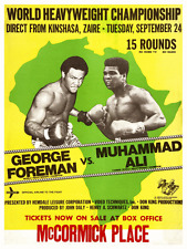 AMAZING Boxing POSTER - 1974 Muhammad Ali vs George Foreman RUMBLE in the JUNGLE