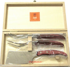CLAUDE DOZORME Laguiole French CHEESE (Knife/Fork/Cleaver) Hostess Gift Box Set
