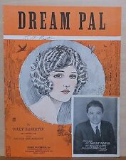 "Dream Pal - 1925 sheet music - Willie Robyn of ""Roxy's Gang"" photo, uke arr."