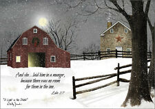 A Light in the Stable Billy Jacobs Box of 16 Religious Christmas Cards