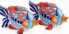 GIGGLE-FISH SALT & PEPPER SHAKER SET BY DIANE ARTWARE