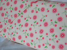 Riley Blake Fabrics Cotton, Delighted, The Quilted Fish cream pink flowers SALE!