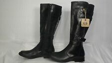 "Born ""Attila"" Black Leather Buckled Tall Riding Boot Women Size 5 M"