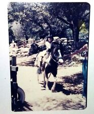 Vintage 70s Found PHOTO Cute Girl Daughter Riding Pony At Yosemite National Park