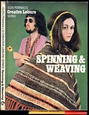 1971 SPINNING & WEAVING Patterns Looms Skills 70s FASHIONS 80pg hardcover VGC+